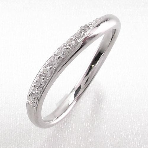ピンキーリング ダイヤモンド ダイヤ k18 18k レディース 指輪 ピンキー シンプル カーブ ウェーブ 18金 ゴールド