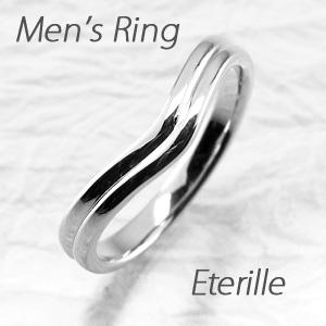 ダイヤモンド リング 指輪 メンズ 地金 V字 Vライン マリッジダイヤモンド リング 結婚指輪 プラチナ pt900