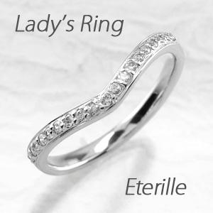 エタニティリング プラチナ ダイヤモンド ダイヤ レディース 指輪 ハーフエタニティ V字 Vライン マリッジリング 結婚指輪