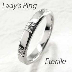 ダイヤモンド リング 指輪 レディース シンプル 平打ち スリーストーン プラチナ マリッジダイヤモンド リング 指輪 結婚指輪