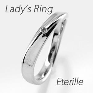 ダイヤモンド リング 指輪 レディース カーブ ウェーブ プラチナ マリッジダイヤモンド リング 指輪 結婚指輪