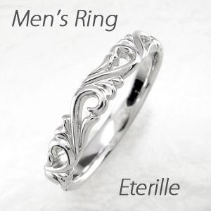 ダイヤモンド リング 指輪 メンズ アンティーク 透かし アンティーク アラベスク 地金 マリッジダイヤモンド リング 結婚指輪 ゴールド 18k k18 18金