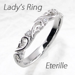 ダイヤモンド リング 指輪 レディース アンティーク 透かし アラベスク プラチナ マリッジダイヤモンド リング 指輪 結婚指輪