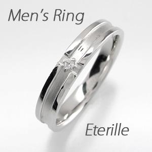ダイヤモンド リング 指輪 メンズダイヤモンド リング クロス 十字架 つや消し マリッジダイヤモンド リング 結婚指輪 プラチナ pt900
