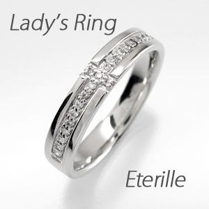 ダイヤモンド リング 指輪 レディース クロス 十字架 プラチナ マリッジダイヤモンド リング 指輪 結婚指輪