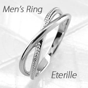 ダイヤモンド リング 指輪 メンズ アンティーク ミル打ち クロス アンティーク 地金 マリッジダイヤモンド リング 結婚指輪 プラチナ pt900