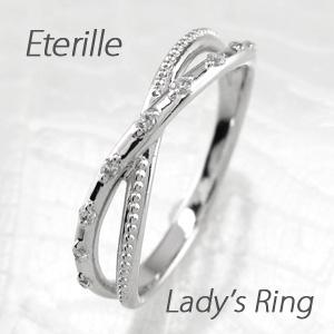 ダイヤモンド リング 指輪 レディース アンティーク ミル打ち クロス プラチナ マリッジダイヤモンド リング 指輪 結婚指輪