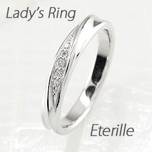 ダイヤモンド リング 指輪 レディース ツイスト ひねり プラチナ マリッジダイヤモンド リング 指輪 結婚指輪