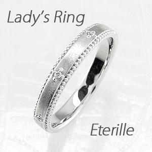 ダイヤモンド リング 指輪 レディース アンティーク ミル打ち つや消し プラチナ マリッジダイヤモンド リング 指輪 結婚指輪