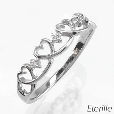 ダイヤモンド リング 指輪 レディース ハート ハートモチーフ プラチナ