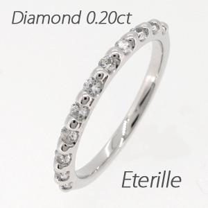 エタニティリング プラチナ ダイヤモンド ダイヤ レディース 指輪 ハーフエタニティ シンプル ストレート スレンダーアーム 0.2カラット 重ねづけ