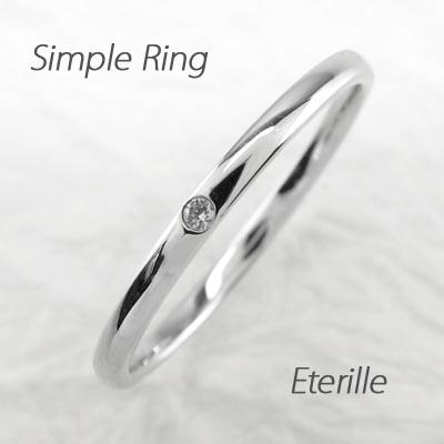 リング ダイヤモンド 指輪 レディース ストレート シンプル 甲丸 1粒石リング ダイヤモンド 指輪 k18 18k 18金 ゴールド 重ねづけ