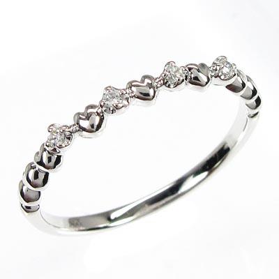 リング プラチナ ダイヤモンド 指輪 レディース ハート ハートモチーフ シンプル プラチナ
