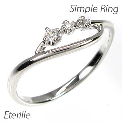 リング プラチナ ダイヤモンド 指輪 レディース シンプル スレンダーリング プラチナ ダイヤモンド 指輪 プラチナ