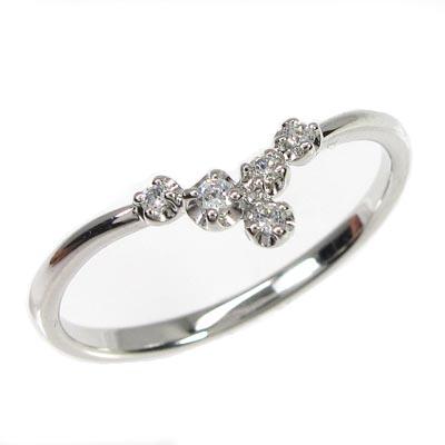 リング プラチナ ダイヤモンド 指輪 レディース シンプル スレンダー V字リング プラチナ ダイヤモンド 指輪 プラチナ