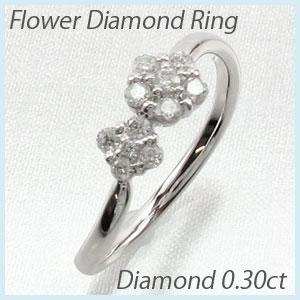 リング ダイヤモンド 指輪 レディース フラワー モチーフ 花 K10 10k 10金 ゴールド