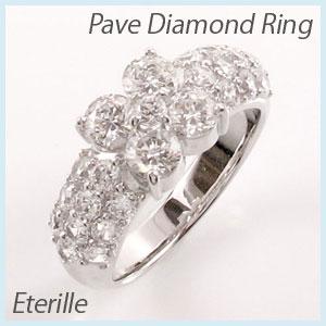 ダイヤモンド パヴェ リング 指輪 レディース ゴージャス k18 18k 18金 ゴールド