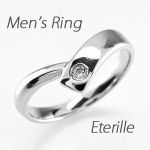 リング ダイヤモンド 指輪 メンズリング ダイヤモンド V字 Vライン マリッジリング ダイヤモンド 結婚指輪 ゴールド 10k K10 10金