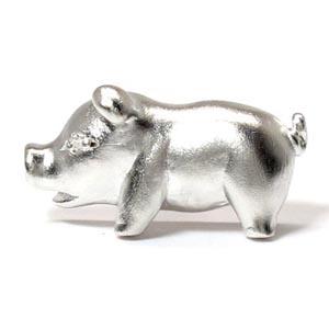 ラペルピン メンズ ダイヤモンド ぶた ブタ 豚 ピッグ アニマル 地金 ゴールド 18k k18 18金