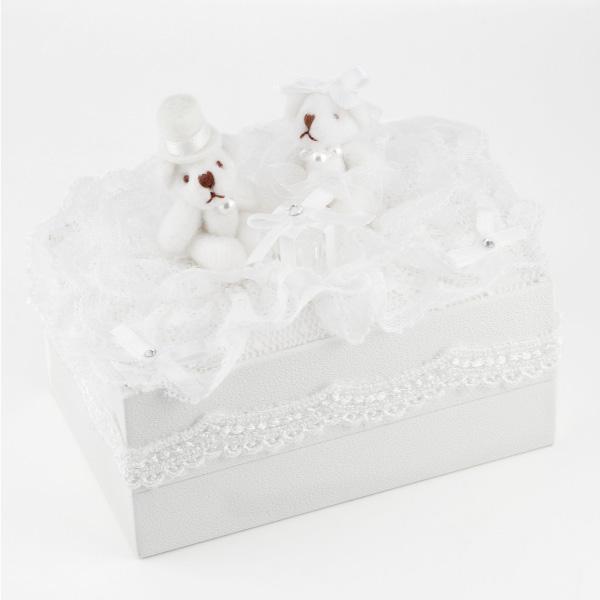 ペアリング ケース クマさん ジュエリー 2本差し 有料 ギフト用 結婚指輪 結婚式 ブライダル 記念日 プロポーズ