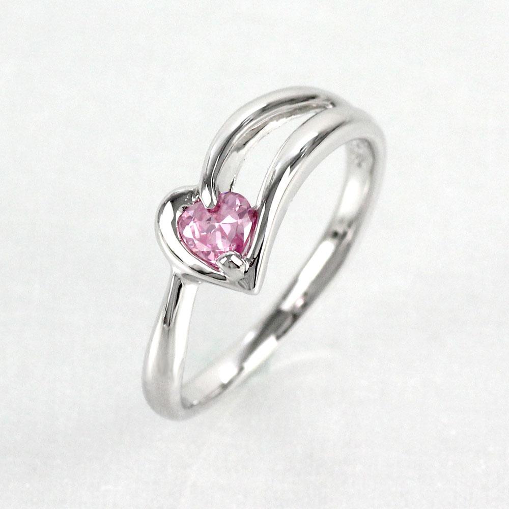 ピンクトルマリン リング カラーストーン ハートシェイプ ハート 指輪 誕生石 レディース 一粒 プラチナ 900 pt900
