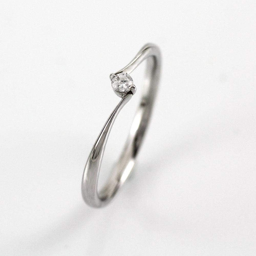 ダイヤ リング 一粒 ダイヤモンド 指輪 レディース シンプル ゴールド k18 18k 18金