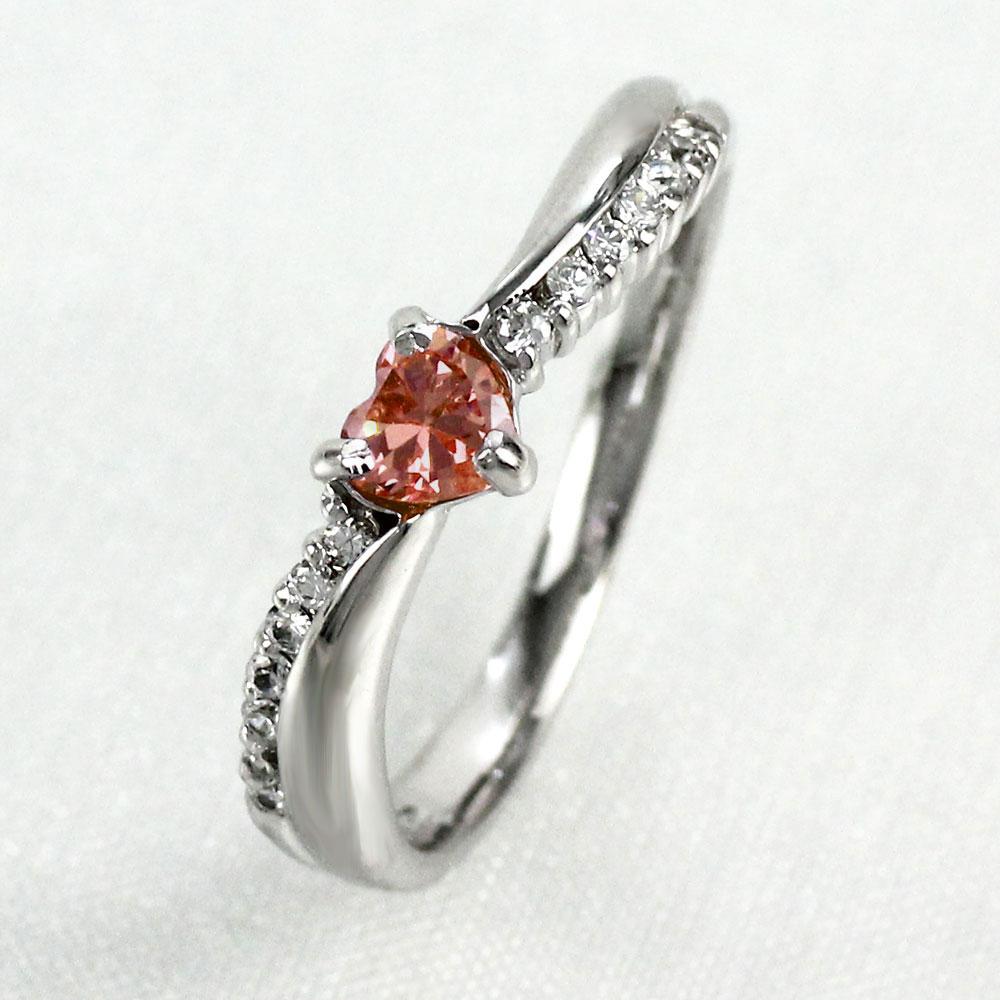 リング ガーネット ダイヤモンド ハート カラーストーン ハートシェイプ 指輪 誕生石 レディース 一粒 ゴールド k18 18k 18金