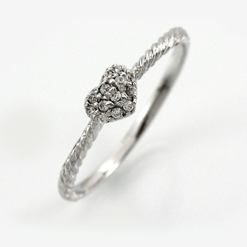 ダイヤ リング ダイヤモンド 指輪 レディース ハート パヴェ アンティーク ねじれ スパイラル ツイスト ゴールド k18 18k 18金