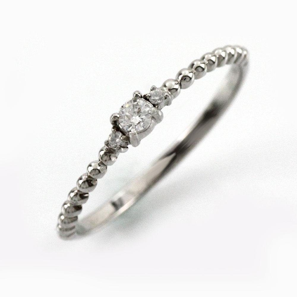 ダイヤ リング ダイヤモンド 指輪 レディース トリロジー スリーストーン アンティーク シンプル 華奢 プラチナ pt900
