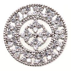 K18WG【送料無料】メンズタイニーピン アンティーク調 K18WG天然ダイヤモンド 自分ご褒美 記念日 襟元ピン