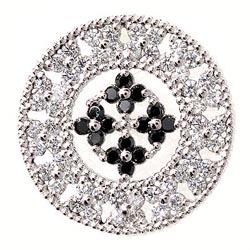 K18WG 【送料無料】メンズタイニーピン アンティーク調 K18WG 天然ダイヤモンド 自分ご褒美 記念日 襟元ピン