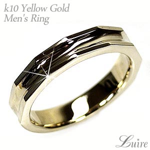 メンズリング ストレート シンプル 結婚指輪 K10イエローゴールド プレゼント マリッジリング 誕生日【送料無料】