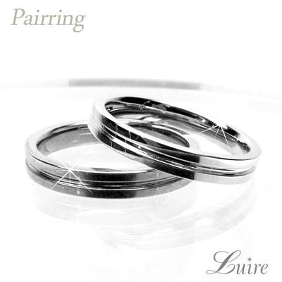 プラチナ900 ペアリング 幅3mm 平打ち 地金リング 結婚指輪 指輪