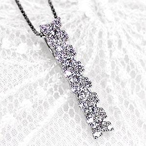 プラチナ900 ダイヤモンド 0.5ct ストレート ペンダント ネックレス 天然ダイヤモンド ギフト【送料無料】