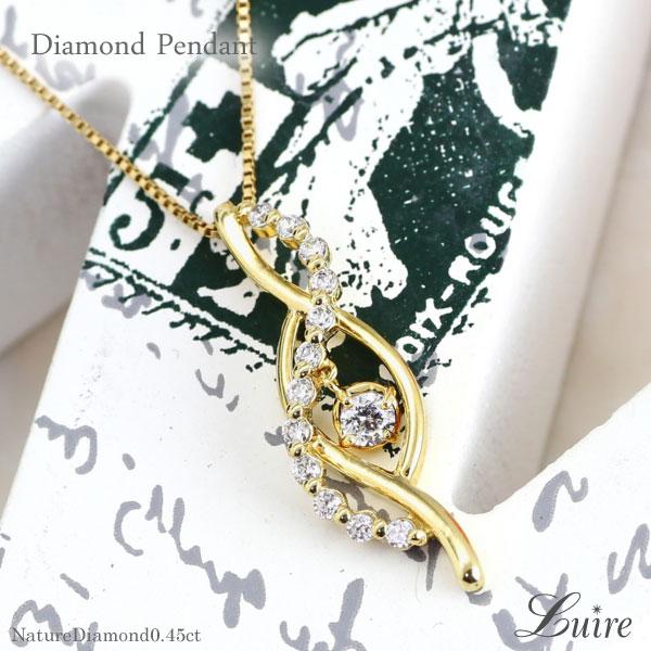 18金 K18 ゴールド ブラ ダイヤ ネックレス 揺れる ダイヤモンド ペンダント K18 WG/YG/PG 誕生日 プレゼント ギフト 自分ご褒美