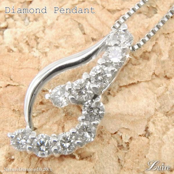 18K K18ゴールド 流れ星 ダイヤ ネックレス K18ホワイトゴールド ダイヤモンド ペンダント 誕生日 プレゼント ギフト 自分ご褒美
