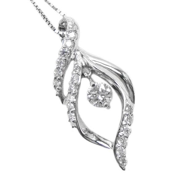 18K K18ゴールド 【送料無料】ダイヤモンド 0.33ct ブラ ペンダント K18ホワイトゴールド ギフト