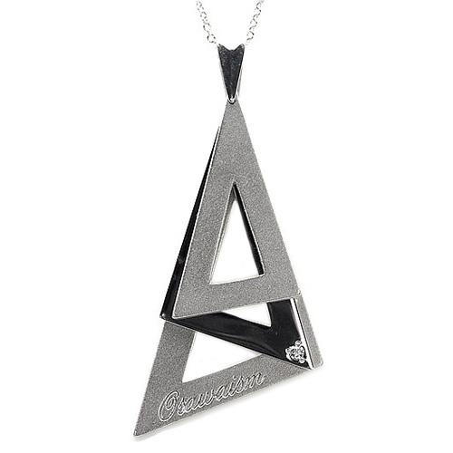 シルバー 【送料無料】一粒石 ダイヤ0.02ct スウィング ペンダント 天然ダイヤモンド 三角 ギフト SV925