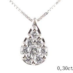 18K K18ゴールド つゆ型 ダイヤモンド0.30c ペンダント ペアシェイプ 涙型 K18 ゴールド ギフト 誕生日 プレゼント ゴールド