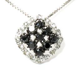 18K K18ゴールド 【送料無料】ブラックダイヤモンド0.65ct K18WG ペンダント ギフト 誕生日 プレゼント ゴールド
