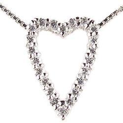 18K K18ゴールド 【送料無料】ハート ダイヤモンド ペンダント K18WG ギフト 誕生日 プレゼント ゴールド