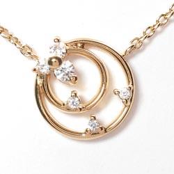18K K18ゴールド 【送料無料】丸型 ダイヤ0.05ct ネックレス天然ダイヤモンド K18PG ギフト