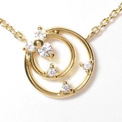 18K K18ゴールド 【送料無料】丸型 ダイヤ0.05ct ネックレス天然ダイヤモンド K18YG ギフト
