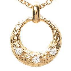 18K K18ゴールド 【送料無料】丸型 ダイヤ0.02ct ネックレス天然ダイヤモンド K18PG ギフト
