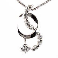 プラチナ900 【送料無料】ロマンティック☆夜空 ダイヤペンダント ネックレス ダイヤモンドジュエリー 誕生日 自分ご褒美