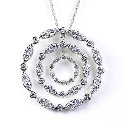 ダイヤモンド1.63ct ラウンド ペンダント ネックレス 天然ダイヤモンド K18WG ギフト