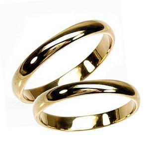 ペアリング 甲丸地金 結婚指輪 K18YG マリッジリング プレゼント 誕生日