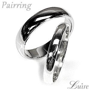 【送料無料】ペアリング 甲丸指輪 結婚指輪 K10ホワイトゴールド マリッジリング プレゼント 誕生日