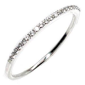 【送料無料】エタニティ リング ダイヤモンド 0.1ct プラチナ900 天然ダイヤモンド 一文字 ギフト 結婚記念 誕生日 プレゼント 彼女 指輪 プラチナ 自分ご褒美 スイート10