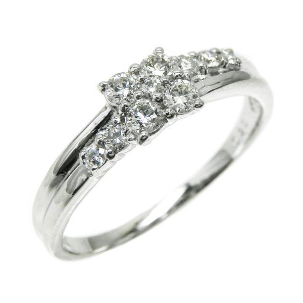 送料無料 ダイヤモンド10 ダイヤモンド 0 3ctフラワーリング K18ホワイトゴールド 天然ダイヤモンドギフト 誕生日 結婚記念日 プレゼント 彼女 自分ご褒美 結婚指輪m8wnN0